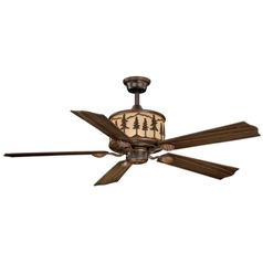 Yosemite Burnished Bronze Ceiling Fan with Light by Vaxcel Lighting