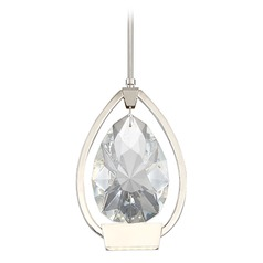 Tiffany LED Pear Crystal Pendant