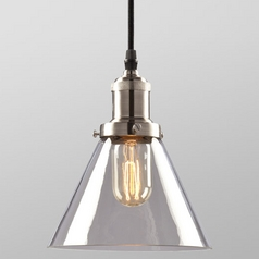 Galaxy Brushed Nickel Vintage Mini-Pendant Light