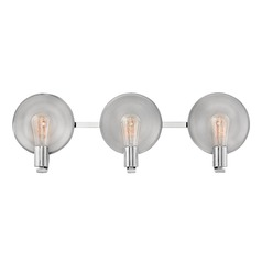 Mid-Century Modern Bathroom Light Polished Nickel Boyer by Hinkley Lighting
