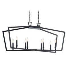 Kichler Lighting Abbotswell 8-Light Black Pendant Light