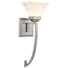 Sconce Wall Light in Brushed Nickel Finish