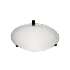 Modern Flushmount Light with White Glass in Black Finish