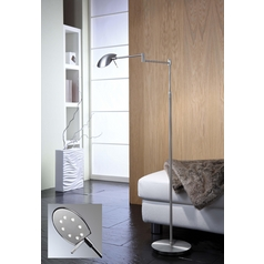 Holtkoetter Modern LED Swing Arm Lamp in Satin Nickel Finish