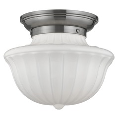 Dutchess 1 Light Semi-Flushmount Light - Satin Nickel