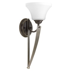 Noma Antique Bronze with Champagne Accents Sconce