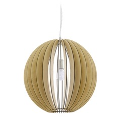 Eglo Cossano Matte Nickel Pendant Light with Globe Shade