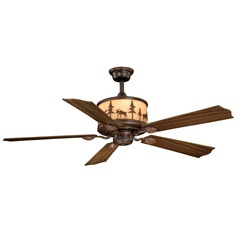 Yellowstone Burnished Bronze Ceiling Fan with Light by Vaxcel Lighting