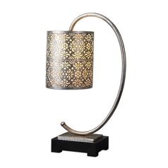Table Lamp in Silver Leaf Finish