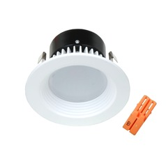 White Baffle LED Retrofit Trim with Title 24 Converter for 4-Inch Recessed Cans