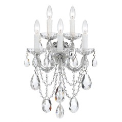 Crystorama Lighting Maria Theresa Polished Chrome Sconce