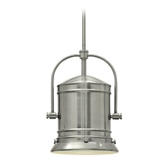 Hinkley Lighting Pullman Brushed Nickel Pendant Light with Cylindrical Shade