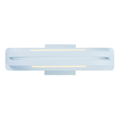Jibe Matte White LED Sconce