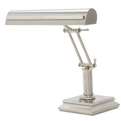 House Of Troy Piano/desk Satin Nickel with Polished Nickel Accents Piano / Banker Lamp