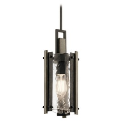 Kichler Lighting Aberdeen Olde Bronze Mini-Pendant Light with Cylindrical Shade