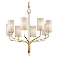 Troy Lighting Juniper Textured Gold Leaf Chandelier