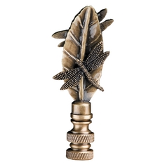 Finial in Antique Brass Finish