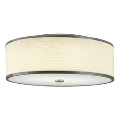 Hart Lighting Corona 22 Satin Nickel Flushmount Light
