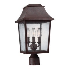 Feiss Lighting Estes Patina Copper Post Light