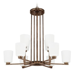 Mid-Century Modern Chandelier Bronze Reid by Capital Lighting