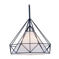 Art Deco Pendant Light Black Teepee by Maxim Lighting