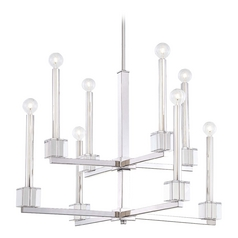 Crystal Chandelier in Polished Nickel Finish
