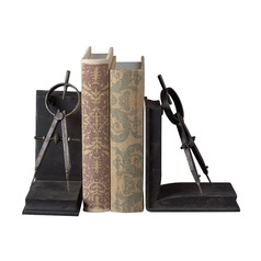 Sterling Lighting Restoration Rusted Black Bookend
