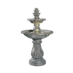 Outdoor Fountain in Moss Finish