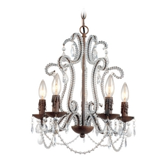 Mini-Chandelier in Godiva Finish