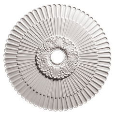 Large Decorative Scalloped Ceiling Medallion - 29-5/8-Inches Wide