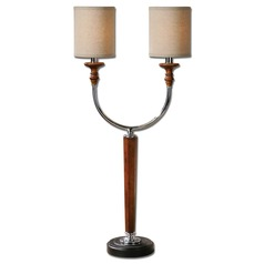 Uttermost Pendleton Wood & Nickel Table Lamp