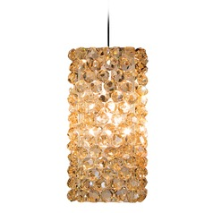 WAC Lighting Haven Chrome LED Mini-Pendant Light with Square Shade