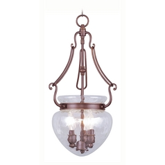 Livex Lighting Duchess Vintage Bronze Pendant Light with Bowl / Dome Shade