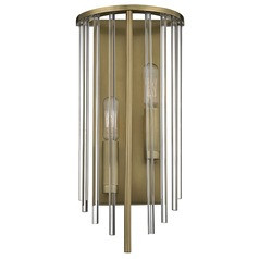 Lewis ADA 2 Light Sconce - Aged Brass