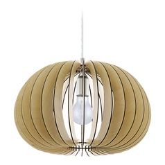 Eglo Cossano Matte Nickel Pendant Light with Oblong Shade