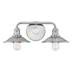 Industrial Polished Nickel Bathroom Light by Hinkley Lighting