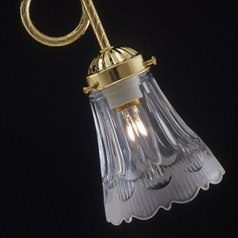 Frost/clear Scalloped Glass Shade