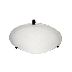 Modern Flushmount Light with White Glass in Polished Brass Finish
