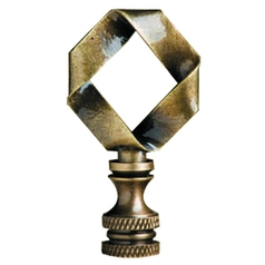 Finial Showcase Finial in Antique Brass Finish B369A