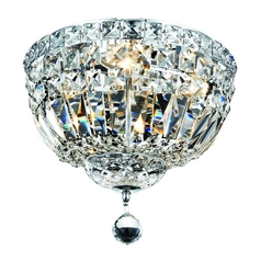 Traditional Crystal Ceiling Light / Basket - 12-Inches Wide