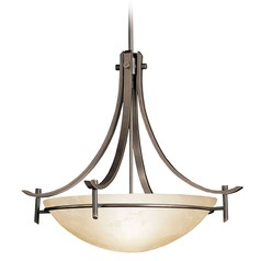Kichler Pendant with Amber Marble-Glass Shade