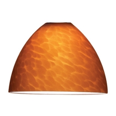 WAC Lighting Amber Bowl / Dome Glass Shade G541-AM