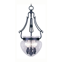 Livex Lighting Duchess Black Pendant Light with Bowl / Dome Shade