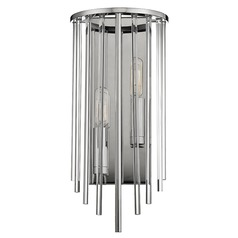 Lewis ADA 2 Light Sconce - Polished Nickel