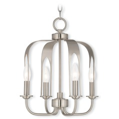 Livex Lighting Addison Brushed Nickel Mini-Chandelier