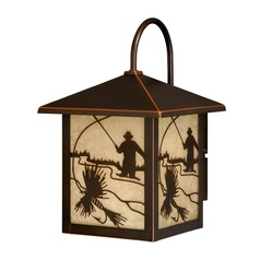 Mayfly Burnished Bronze Outdoor Wall Light by Vaxcel Lighting