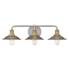 Farmhouse Bathroom Light Antique Nickel Rigby by Hinkley Lighting