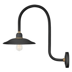 Hinkley Lighting Foundry Textured Black / Brass Barn Light