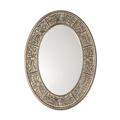 Oval 26-Inch Mirror