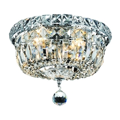 Crystal Flushmount Ceiling Light - 10-Inches Wide